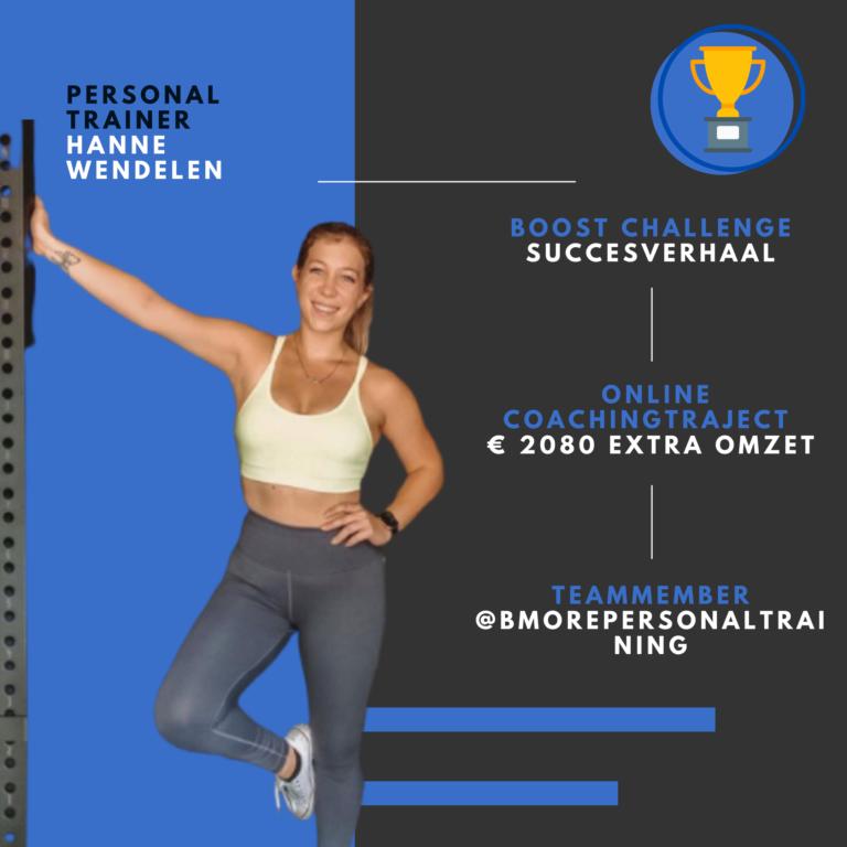 Personal trainer Hanne wendelen