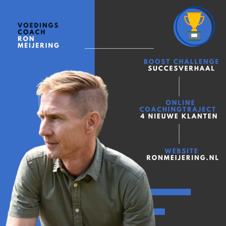 Personal trainer Ron Meijering