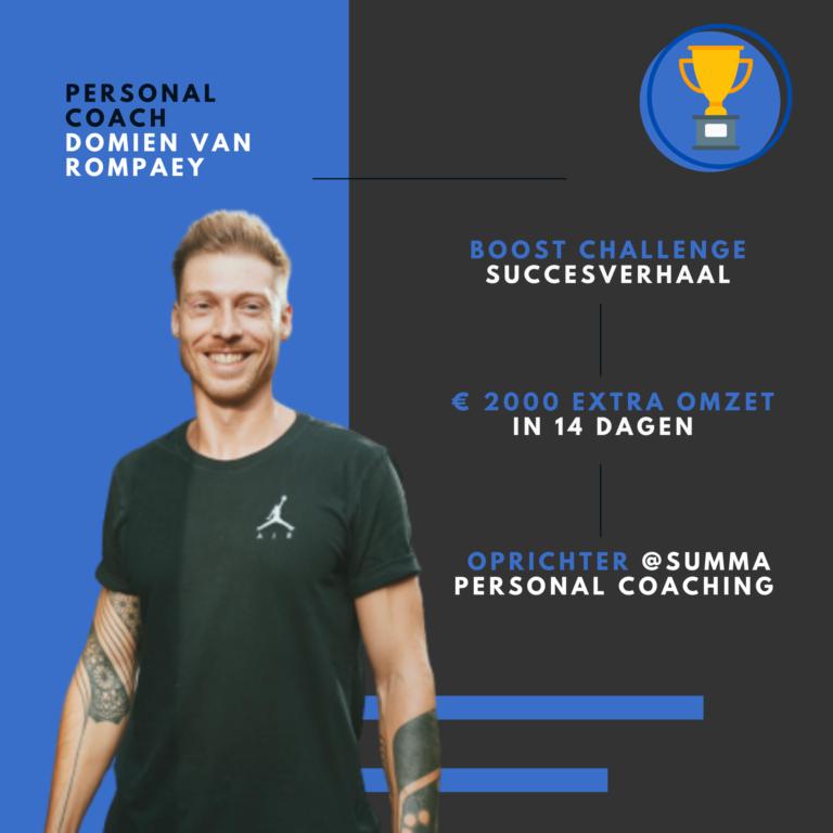 Personal trainer Domien Van Rompaey